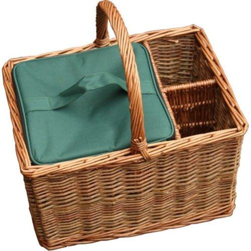 Event Basket with Green Willow with Cooler