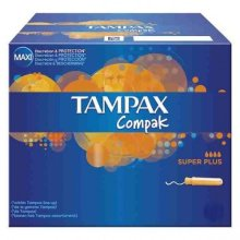 Tampax Compak Super Plus Applicator Tampons 20 per pack Case of 4