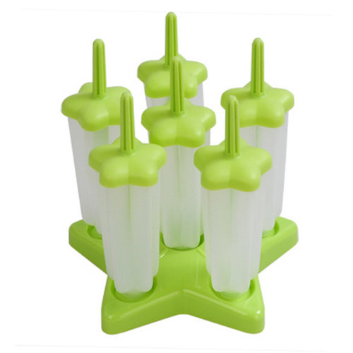 Star Ice Pop Molds Medium Size 14*4 CM Green-Set Of 6