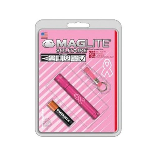 Maglite Solitaire PINK Keyring torch - Breast Cancer Special Edition