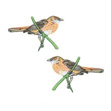 Iron on Patches Cute Bird Applique Patches Clothing Patches Embroidery Applique