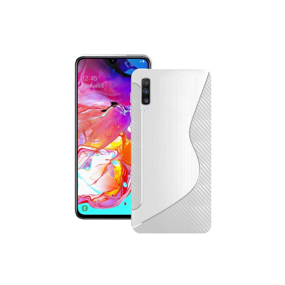 the latest 728c6 18dec For Samsung Galaxy A70 2019 Silicone S-Line Gel TPU In Transparent Case  Cover