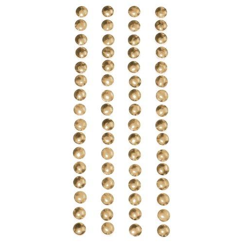 Metal Stickers Nailheads 5mm Round 64/Pkg-Gold