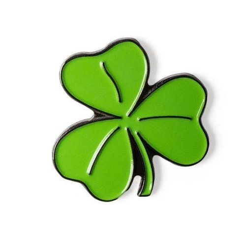 Four Leaf Clover Enamel Pin Badge