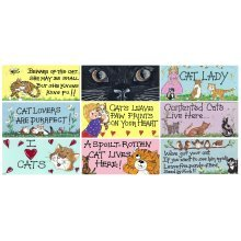 Cat PVC Hanging Wall Door Signs Plaques Cute Fun Novelty Christmas Birthday Gift
