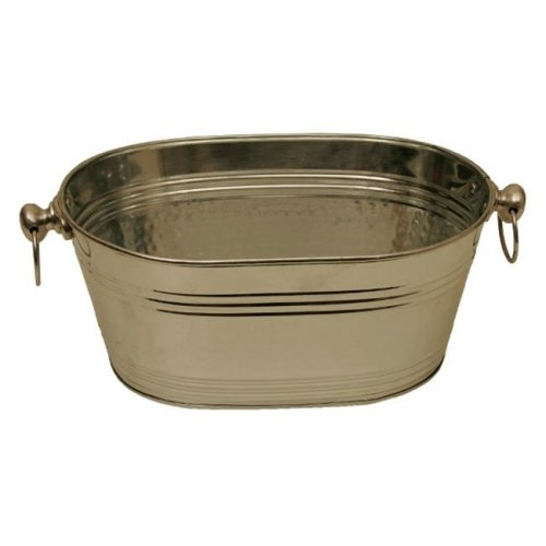 Wald Imports 3636 14 in. Polished Silver Beverage Oval Bucket