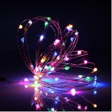 5M 50 LED Copper Wire Fairy String Light USB Powered Xmas Party Home Decor