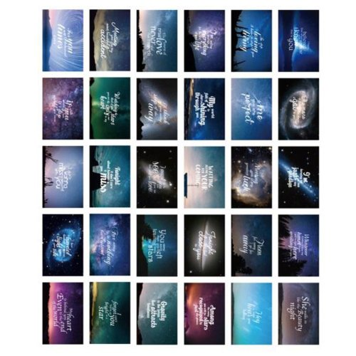 30PCS 1 Set Creative Postcards Artistic Beautiful Postcards, Light Years