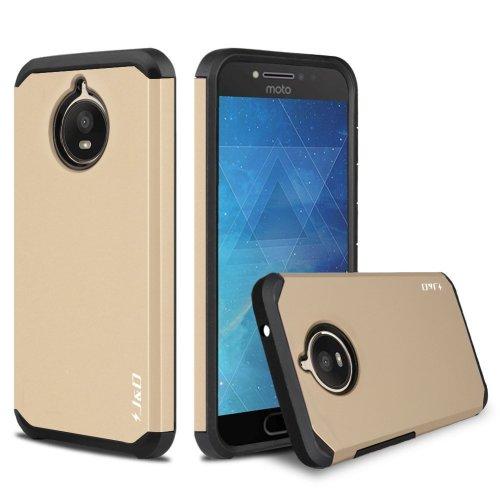 J&D Moto E4 Plus (5 5'') Case, [ArmorBox] [Dual Layer] Hybrid Shock Proof  Protective Rugged Case for Motorola Moto E4 Plus (5 5'') - [NOT