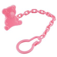 Set Of 2 Baby Pacifier Leashes/Cases Pacifier Clips Pacifier Holder Pink Bear