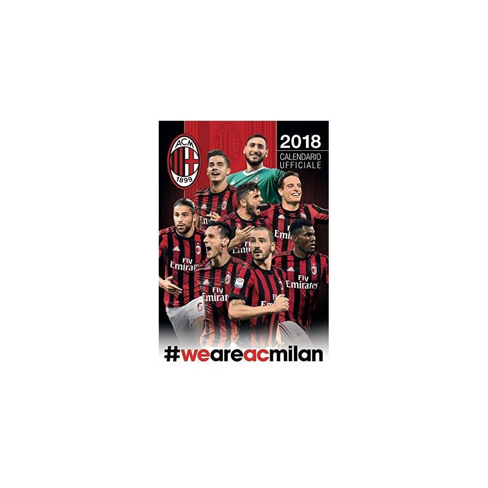 Calendario Ac Milan.Milan 2018 Official Calendar Calendario Verticale Ac