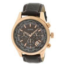 Guess Luscious Leather Chronograph Mens Watch U0500G3