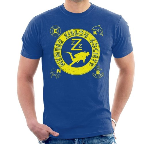 Life Aquatic Inspired Zissou Society Men's T-Shirt