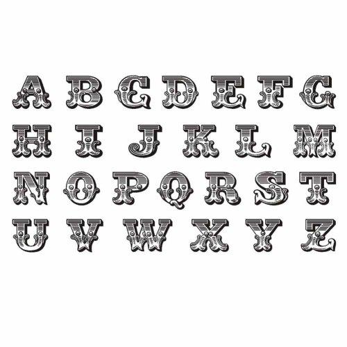 3 Sheets Black English Alphabet DIY Name Body Temporary Tattoos Fake Tattoos Designs Finger Art Stickers Tattoo Sticker