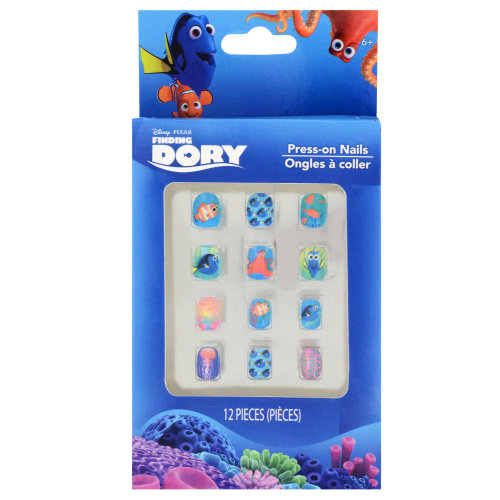 Disney Pixar Finding Dory Press-On Nails for Kids, 12 PC