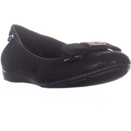 Anne Klein Alivia2 Ballet Flats, Black Multi, 9 UK