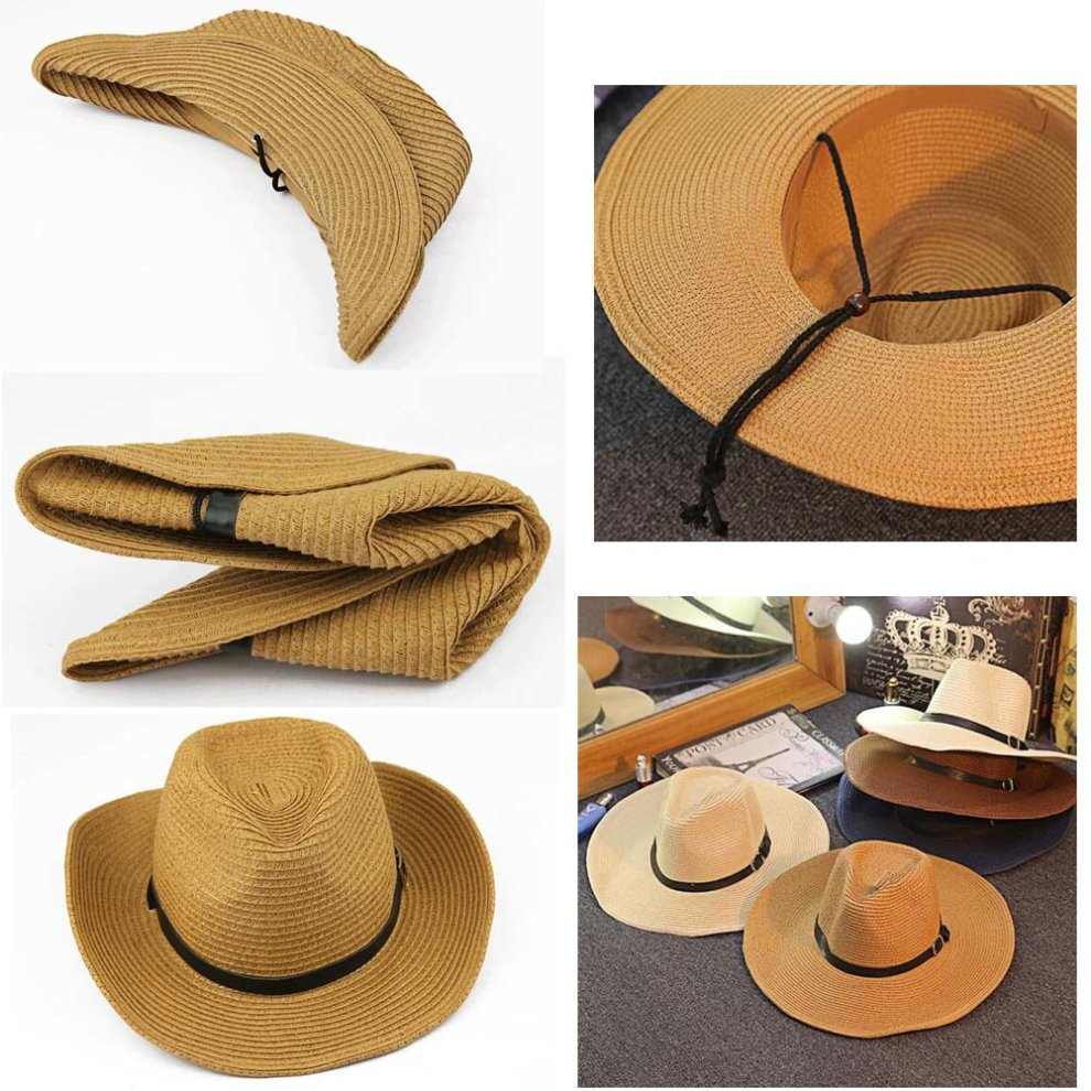 af8d6abc19ca49 ... Men's Hats Beach Hat Straw Hat Foldable Cowboy Breathable Hat - 1. >