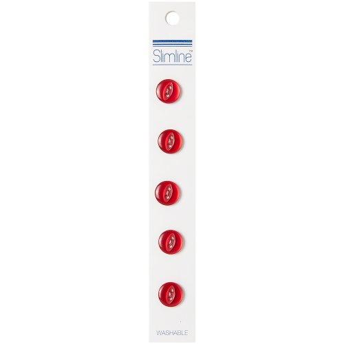 Slimline Buttons Series 1-Wine 2-Hole 7/16 5/Pkg
