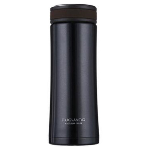 Creative Hot Water Bottle Vacuum Drinks Cup Stainless Steel Insulated, Black