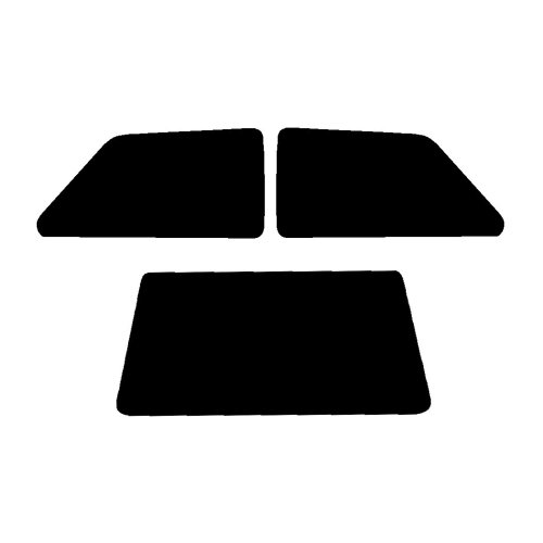Pre cut window tint - Vauxhall Nova 3-Door - 1983 to 1993 - Rear windows
