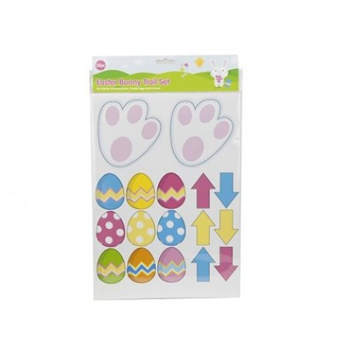 35 Piece Egg Hunt Bunny Trail Set - Easter Arrows Paws Eggs Kids Fun Card -  bunny easter trail set arrows paws eggs kids hunt fun card hunting new