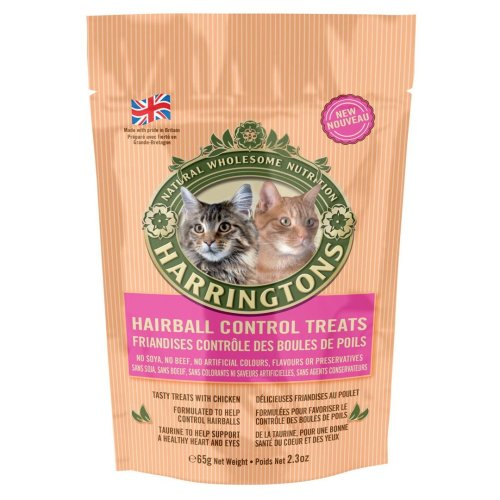 Harringtons Cat Treats With Hairball Control 65g (Pack of 12)