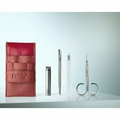Rubis Lady's Grooming case Exclusive, 4-piece cosmetic set in a red pocket case