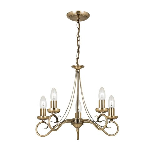 Traditional 5 Arm Ceiling Light With Candle Tube
