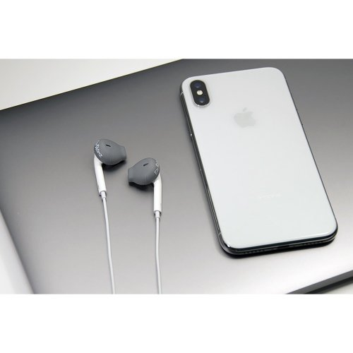 low priced 123d9 69849 EarSkinz EarPod Covers (ES2) - Charcoal for Apple iPhone  X/8/7/6S/6/5S/5SE/5C/5