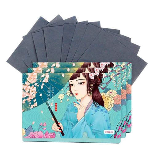 Double-sided Facial Oil Control Blotting Papers Makeup Blotting Papers 300 Sheets (E)