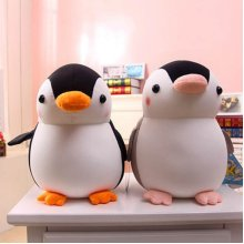 SOFO Penguin Cushions Pillows Foam Particles Soft