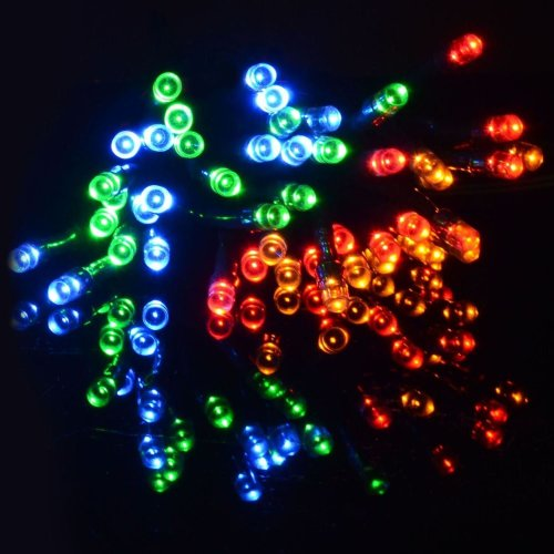 String Chaser Lights 100 Multi Coloured LED Garden Party Christmas Outdoor