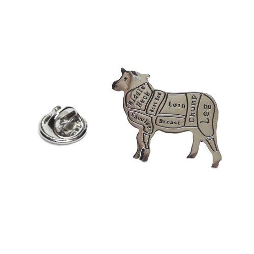 Butchers Cuts of Lamb / Sheep Lapel Pin Badge