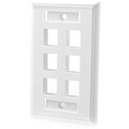 Cables To Go 03414 6-PORT MULTIMEDIA KEYSTONE WALL PLATE - WHITE