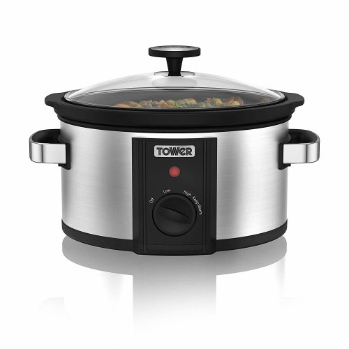 Tower 3.5L S/S Manual Slow Cooker