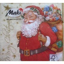 4 x Christmas Paper Napkins - Merry Christmas - Ideal for Decoupage