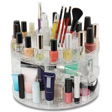 Clear Acrylic Beauty Cosmetic Organiser Makeup Carousel Tray Display Box Case