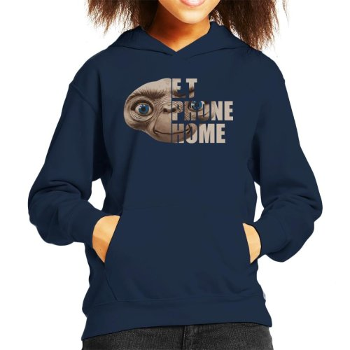 ET Half Head Text Kid's Hooded Sweatshirt