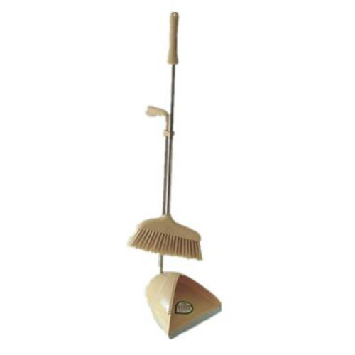 Durable Removable Broom and Dustpan Standing Upright Grips Sweep Set with Long Handle, #C13