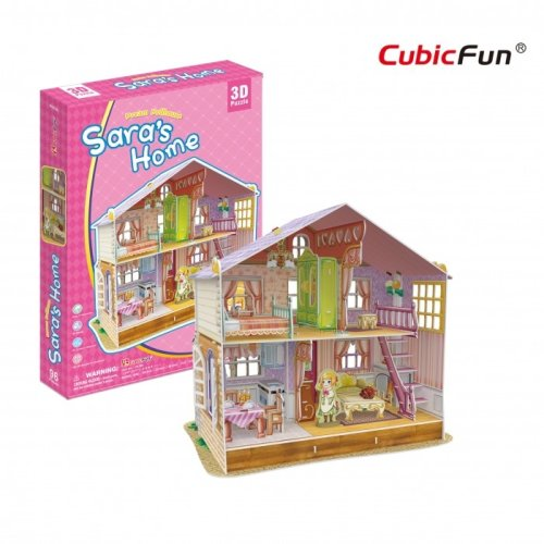 3D Jigsaw Puzzle - Sara's Home (Difficulty: 4/6)