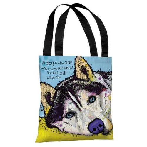 d15edf3ad One Bella Casa 72128TT18P 18 in. Siberian Husky with Text Polyester ...