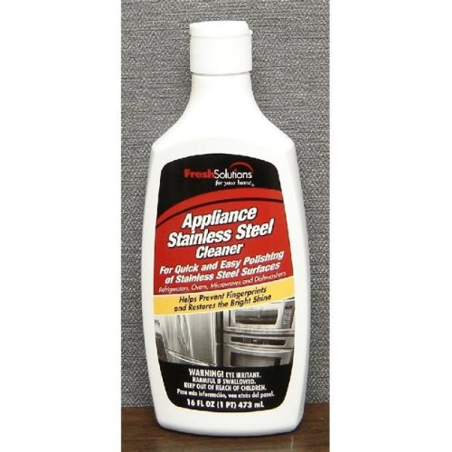Fresh Solutions 70246 16oz Polishes Stainless Steel Cleaner Creme- Pack of 6