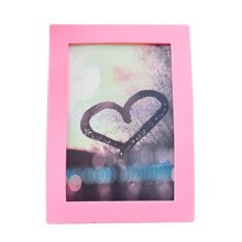 """Creative Lovely Silica Gel Decor Recycle Wall Photo Frames 4*5.9"""" PINK"""