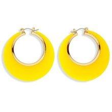 Widmann 03552-2colour Hoop Earrings -  disco earrings 70s music pop travolta boogie nights