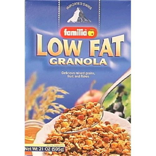 Familia Low-Fat Granola Cereal 21-Ounce Boxes -Pack of 6