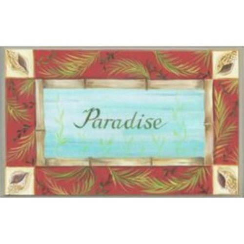 Stupell Industries CWP-109 Paradise Rect Oval Wall Plaque