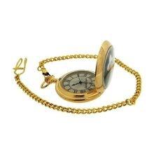 John Wayne Gents Limited Edition Goldtone Pocket Watch Plus 14 Inch Chain WAY04