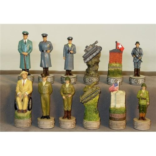 WorldWise R73669 World War 2 Resin Chessmen