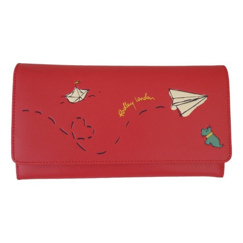 Radley Paper Trail Red Large Leather Matinee Purse
