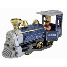 Simulation Locomotive Toy Model Trains Steam Train, BLUE (15*5*17CM)